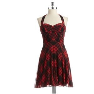 Vintage Betsey Johnson Plaid Halter Top Dress